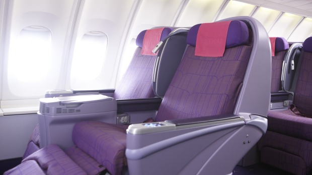 Thai Airways' older 747 business class seats. Long may they live.