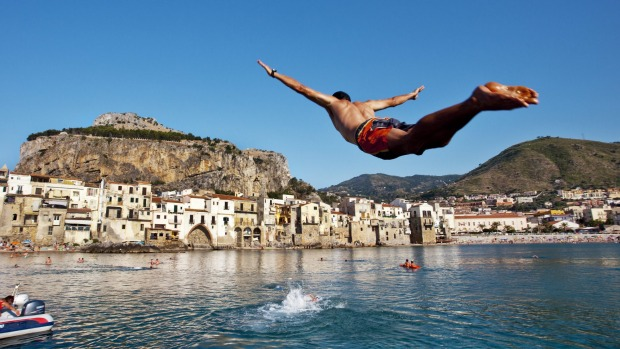 Unforgettable: Jumping in the sea, Palermo, Sicily.