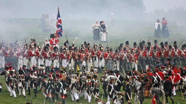 Battle of Waterloo reenactment.