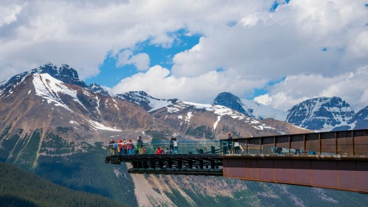 Icy wonderland: Glacier Skywalk has attracted more than 260,000 visitors since it opened in May.