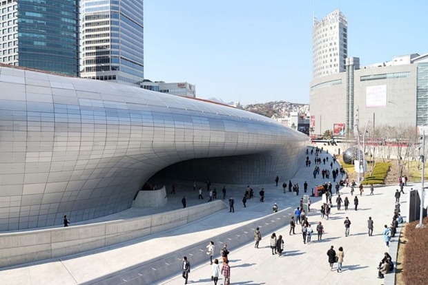 Dongdaemun Design Plaza in Seoul.
