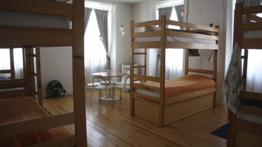 Roomy: One of the spacious, eight-bed dorm rooms.