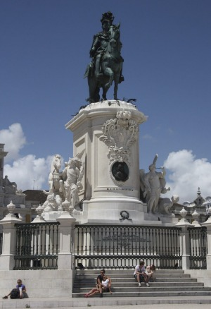Statue of King Jose I in Praca do Comercio (Commerce Square), a short walk from Lisbon Lounge