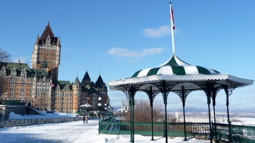 Snowy wonderland: Chateau Frontenac, said to be the most photographed hotel in the world.
