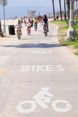 Extended tour: Venice Beach is on the Bikes and Hikes tour route.