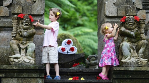 Go west: Many package holidays suitable for children are on offer in Bali.