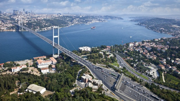 Bosphorus Bridge in Istanbul was opened in 1973, a day after Turkey celebrated its 50th anniversary as a republic.