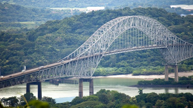 Bridge of the Americas, was the first non-swinging bridge over the Panama Canal in Panama City, Central America.