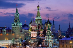 Must-see: St Basil's Cathedral in winter snow, Red Square.