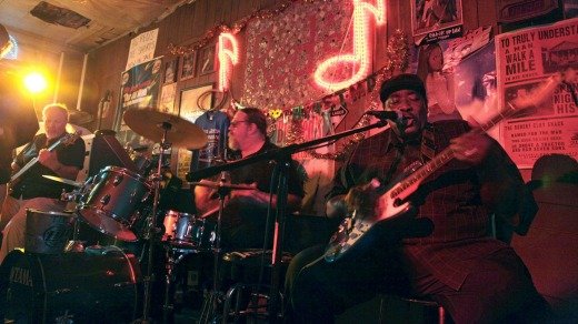 Bluesman: Big Jack Johnson performs in Red's Lounge in downtown Clarksdale.