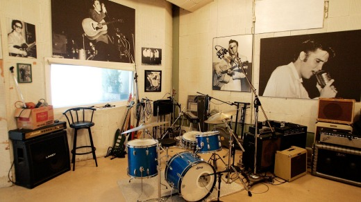 Ready to roll: A music suite at Sun Studios in Memphis, Tennessee.