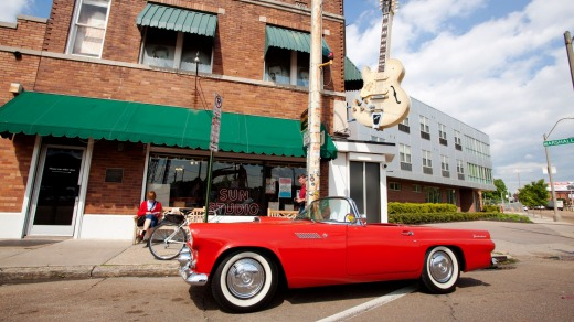 Musical mecca: Sun Studios in Memphis, Tennessee, where Elvis Presley recorded his first hit.