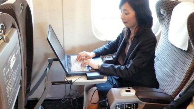 Modern bullet trains have power outlets for laptops and other electric devices.