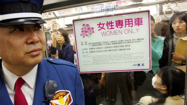 "Some of Tokyo's railway companies have introduced ""women only"" carriages as part of a city effort to tackle the problem of men who take advantage of overcrowding to grope female passengers."