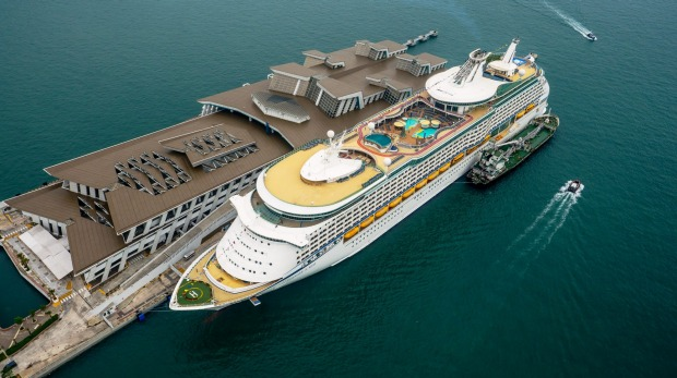 Makeover: Voyager of the Seas at the Marina Bay Cruise Centre  in Singapore.