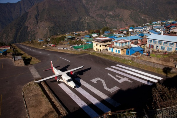 LUKLA, NEPAL. This is the gateway for trekkers and mountaineers heading for Everest Base Camp, but with a length of just ...