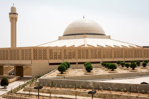 Mosque, King Khalid International Airport, Riyadh, Saudi Arabia: The airport's mosque accommodates 2,000 worshippers, ...