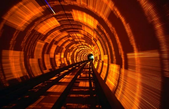 The Bund Sightseeing Tunnel, Shanghai.  The river tunnel has a captive audience. It exploits this by charging a lot of ...