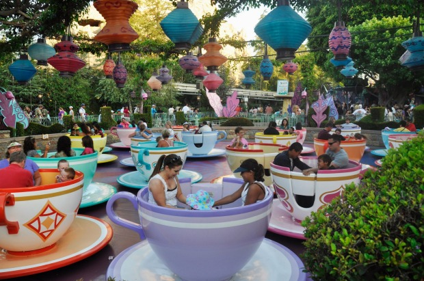 1. Teacups ride at Disneyland in Anaheim, California: The happiest place on earth is also the most geotagged on ...