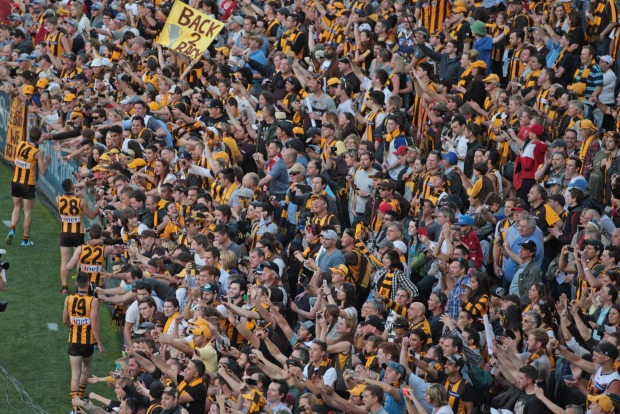9: Melbourne's beloved Cricket Ground is packed with supporters after a football grand final win in 2014. The stadium ...