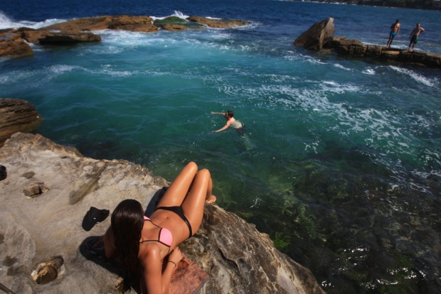 10: Swimmers make the most of spring weather at Sydney's Coogee Beach. Situated eight kilometres outside of the CBD, the ...