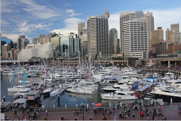2: Sydney's Darling Harbour is visually spectacular, and an entertainment mecca, loaded with shops, bars and restaurants.