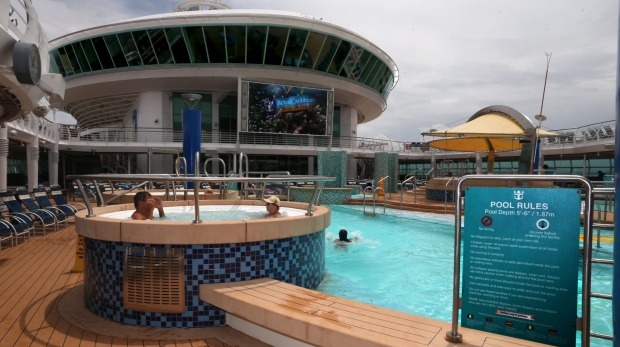 On board Voyager of the Seas.