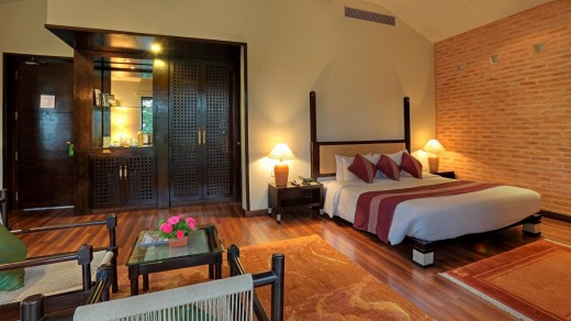 Well appointed: The Junior Suite at Gokarna Forest Resort is spacious.