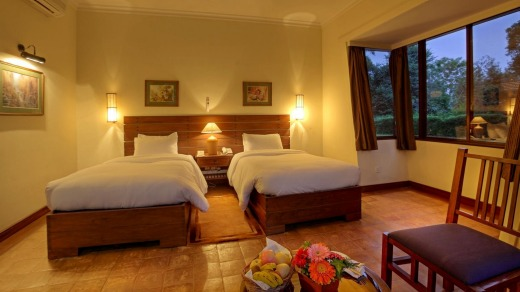Cosy retreat: The Cottage Room at Gokarna Forest Resort.