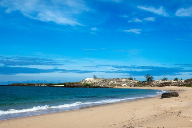 Beach on Bremer Island. Off the coast of Arnhem Land, Bremer Island is a back-to-basics option. Visitors sleep in tents ...