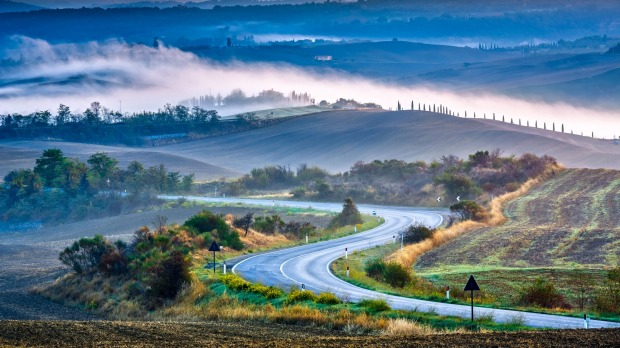 Perennial roadtrip favourite: Tuscany at sunrise is hard to beat.