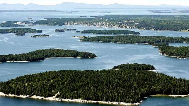 Spruce Island, Maine. Off the coast of Maine in the US, it can be rented for between $US500 and $US1500 a night.