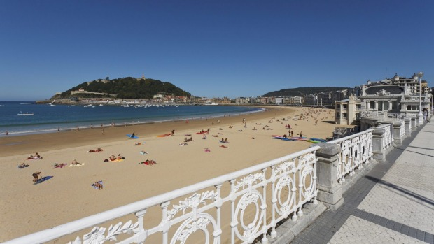 The perfect city beach: Playa de la Concha, San Sebastian, Spain.