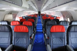 Seats on economy class.