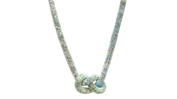 2. Wear your world with an Atlas pages infinity necklace by Melbourne-based artist Catrine Berlatier. The necklace is ...