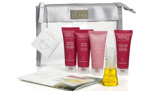 9. Bundle your skincare essentials into one neat bag with the Jojoba Company Travel Essentials Pack. Includes a 15ml ...
