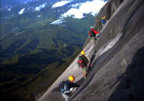 Via ferrata, Borneo, Malaysia. A most thrilling way for ordinary folk to gain access to areas once reserved for ...