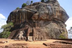 Like something from Lord of the Rings: The palace built on Sigiriya (Lion Rock).
