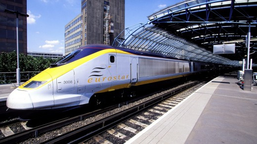 The Eurostar fast train.