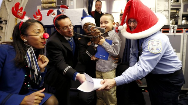 United Airlines' Fantasy Flight in the US took a group of sick children from Newark Liberty International Airport to ...