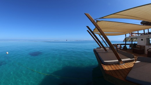 Cloud 9, floating restaurant and bar, Fiji.