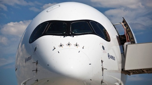 The nose of the Airbus A350.