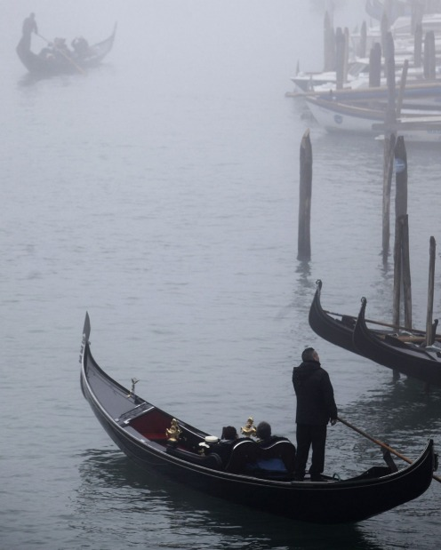 In winter, Venice is a marvellously erie place of footsteps echoing along misty alleyways.