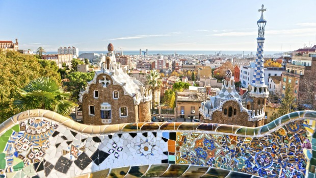 The best time to visit Barcelona is during their dry winters, when there's azure blue skies and lots of empty streets.