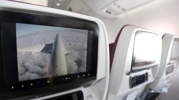 Inside Qatar Airways' first Airbus A350.