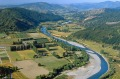 Food bowl: There's an abundance of farms and crops in Motueka River Valley New Zealand.