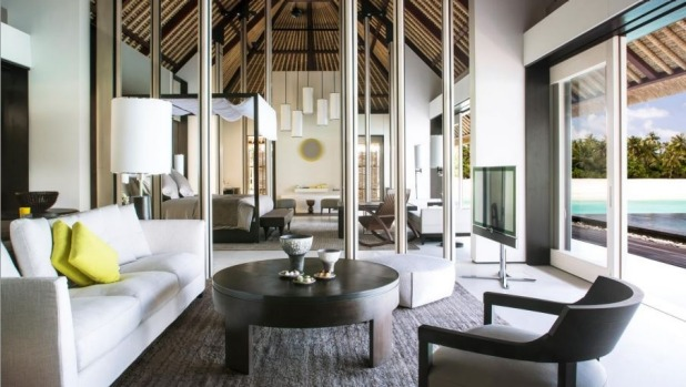 The Cheval Blanc Randheli's loft-style villas feature seven-metre high doors.