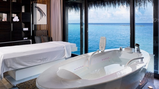 Spa room with a view: Velaa Private Island.
