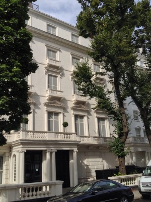 Faking it: The façade at 24 Leinster Gardens, Bayswater, London.