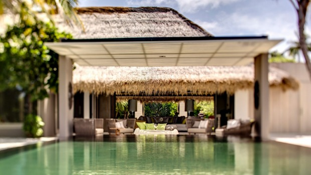 Private pleasures: Island villas are well suited to families.